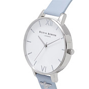 Olivia Burton Embellished Strap Chalk Blue & Silver Watch