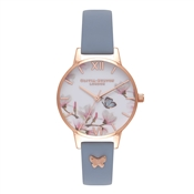 Olivia Burton Pretty Blossom Chalk Blue and Rose Gold