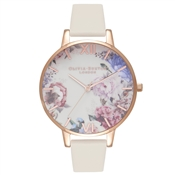 Olivia Burton Enchanted Garden Nude & Rose Gold Watch