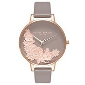 Floral Bouquet London Grey Watch by Olivia Burton