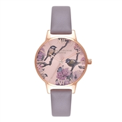 Olivia Burton Pretty Blossom London Grey and Rose Gold
