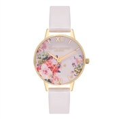 Olivia Burton Enchanted Garden Nude & Gold Watch