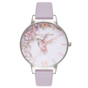Olivia Burton Painterly Prints Grey Lilac, Silver & Rose Gold
