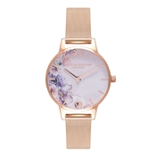 Olivia Burton Watercolour Florals Midi Rose Gold Watch