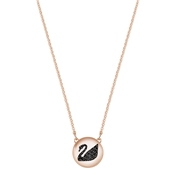 Swarovski Hall Swan Rose Gold Pendant