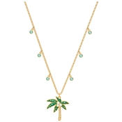 Swarovski Lime Palm Tree Multicoloured Necklace
