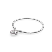 PANDORA Lock Your Promise Heart Clasp Bracelet