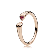 PANDORA Rose Two Hearts Ring