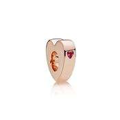 PANDORA Rose Two Hearts Spacer
