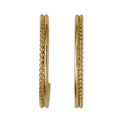 Pilgrim Gold Plated Beaded Hoop Earrings