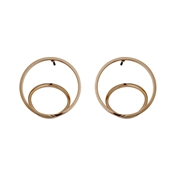 Pilgrim Rose Gold Plated Circle Earrings