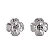 Pilgrim Isabel Silver Crystal Flower Earrings