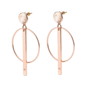 Pilgrim Mina Rose Gold Drop Earrings