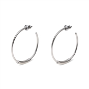 Pilgrim Nuala Silver Plated Hoop Earrings
