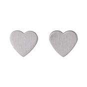 Pilgrim Vivi Silver Plated Heart Stud Earrings