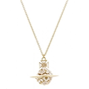 Vivienne Westwood Azalea Small Orb Gold Necklace