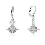 Vivienne Westwood Bessie Orb Silver Drop Earrings