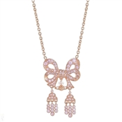 Vivienne Westwood Elinor Small Bow Pink Gold Necklace