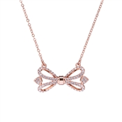Ted Baker Haven Ornate Pave Bow Rose Gold Necklace