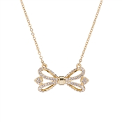 Ted Baker Haven Ornate Pave Bow Gold Necklace