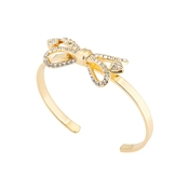 Ted Baker Hediie Ornate Pave Bow Gold Cuff