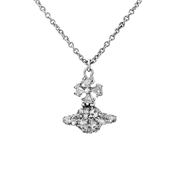 Vivienne Westwood Irina Small Bow Silver Necklace