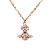 Vivienne Westwood Irina Small Bow Pink Gold Necklace