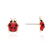 Vivienne Westwood Ladybird Red and Gold Earrings