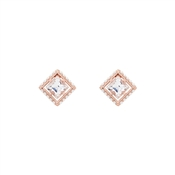 Ted Baker Payge Pearl Framed Crystal Rose Gold Stud Earrings