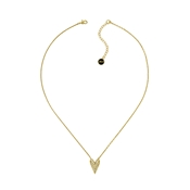 Karl Lagerfeld Gold Pyramid Heart Necklace