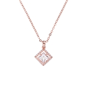 Ted Baker Pythia Pearl Framed Crystal Rose Gold Pendant