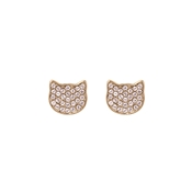 Karl Lagerfeld Rose Gold Choupette Stud Earrings