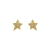 Karl Lagerfeld Gold Star Stud Earrings