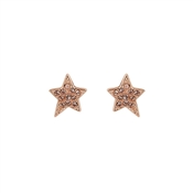 Karl Lagerfeld Rose Gold Star Stud Earrings
