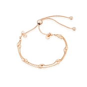 Argento Rose Gold Double Layer Bracelet