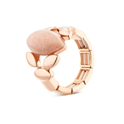 August Woods Rose Gold & Pink Stone Ring