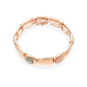 August Woods Rose Gold Geometric Bracelet