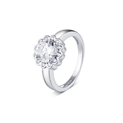 Argento Crystal Cluster Flow Ring