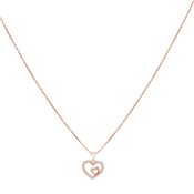 Argento Rose Gold Heart Within Necklace