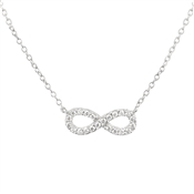 Argento Silver Crystal Infinity Necklace
