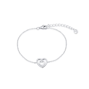Argento Heart Within a Heart Bracelet