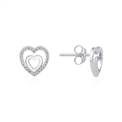 Argento Heart Within a Heart Earrings