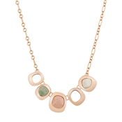 August Woods Rose Gold Geometric Necklace