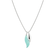 August Woods Aqua Moonstone Drop Necklace