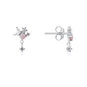 Argento Blossom Pink Opal Earrings