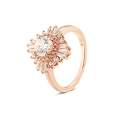 Argento Rose Gold Stellar Burst Ring