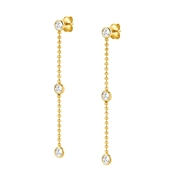 Nomination Bella Bloom Gold Crystal Earrings