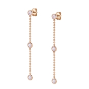 Nomination Bella Bloom Rose Gold & Pink Crystal Earrings