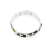 August Woods Grey Frosted Bracelet