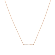 Argento Rose Gold Stellar Bar Necklace